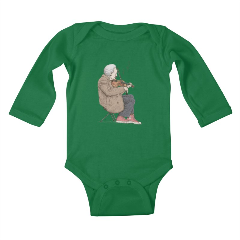 holiday of the scientist Kids Baby Longsleeve Bodysuit by makapa's Artist Shop