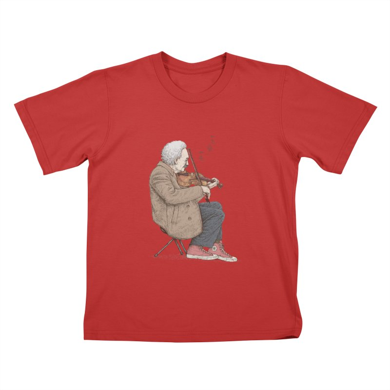holiday of the scientist Kids T-Shirt by makapa's Artist Shop