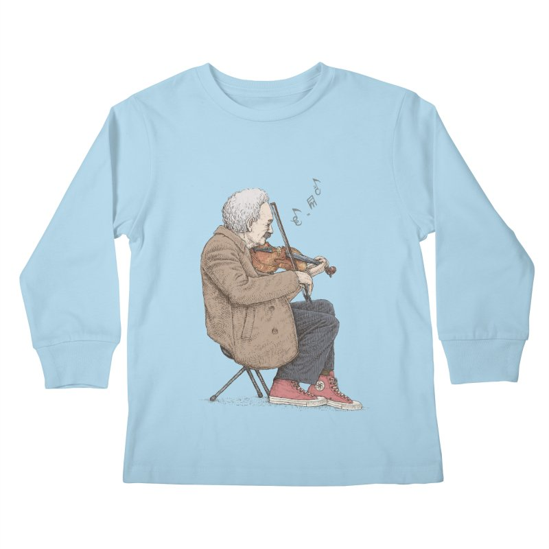 holiday of the scientist Kids Longsleeve T-Shirt by makapa's Artist Shop