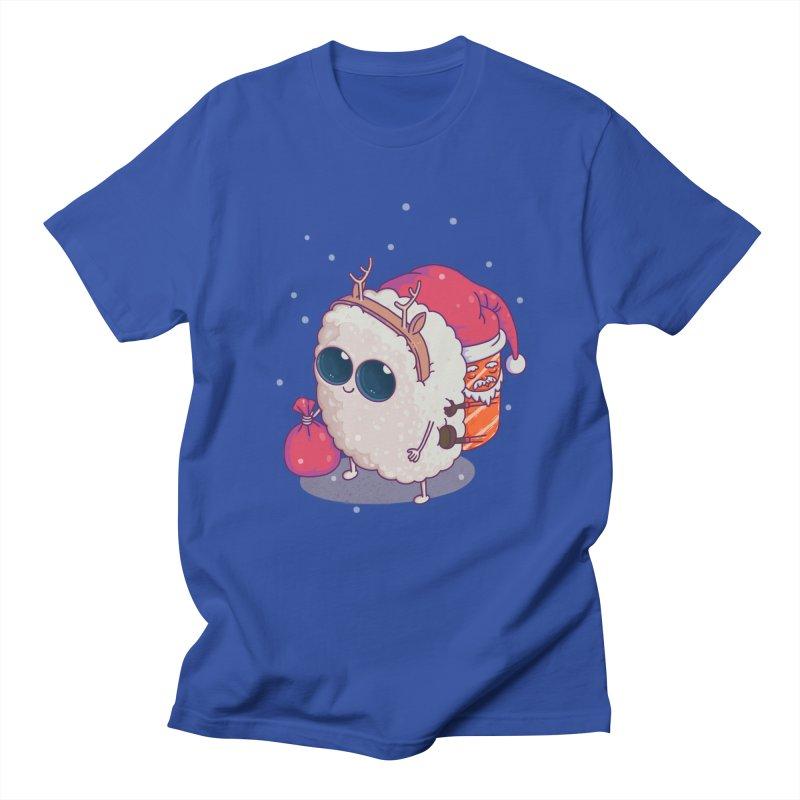 happy santa sushi Men's T-Shirt by makapa's Artist Shop