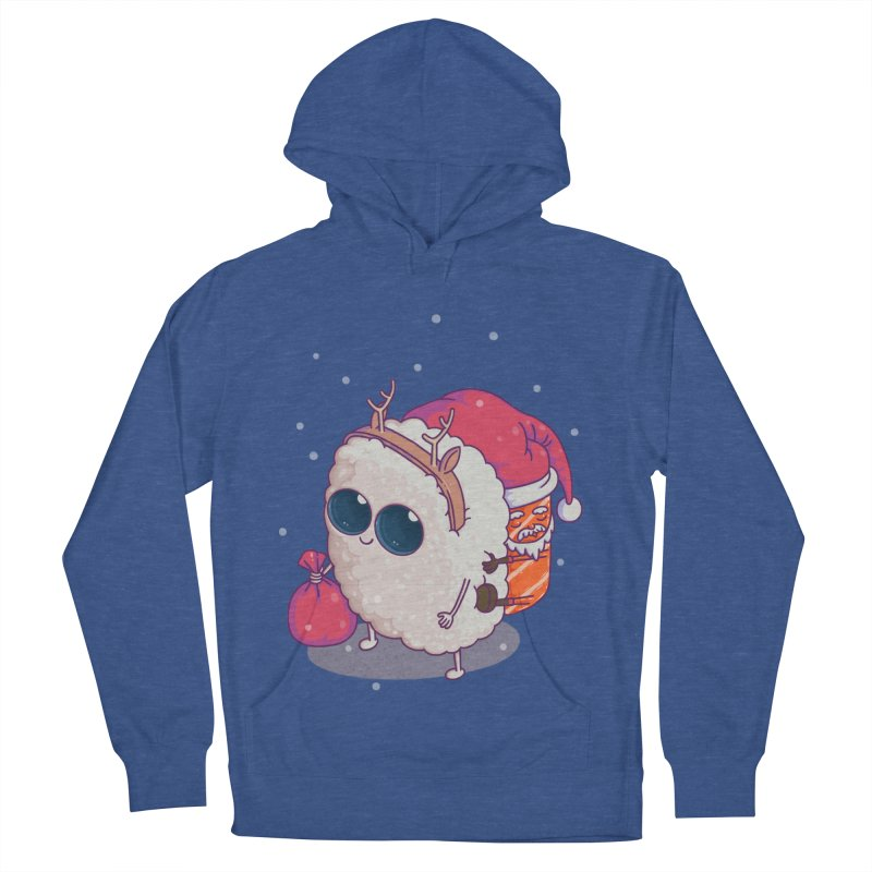 happy santa sushi Women's Pullover Hoody by makapa's Artist Shop