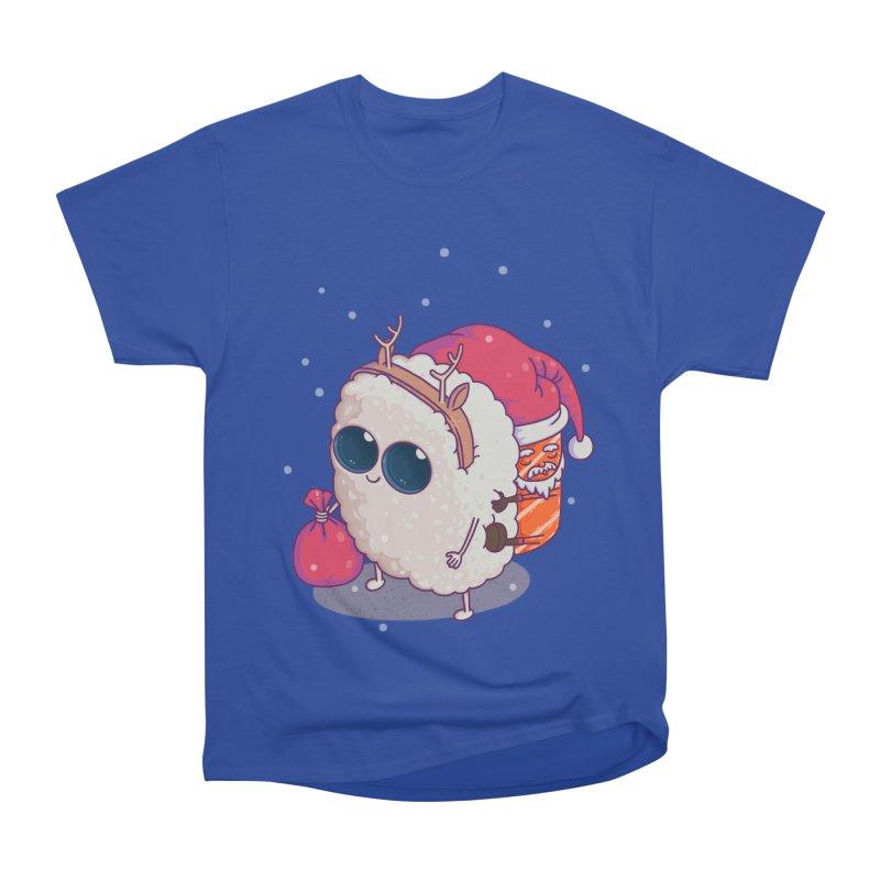 happy santa sushi Women's Classic Unisex T-Shirt by makapa's Artist Shop