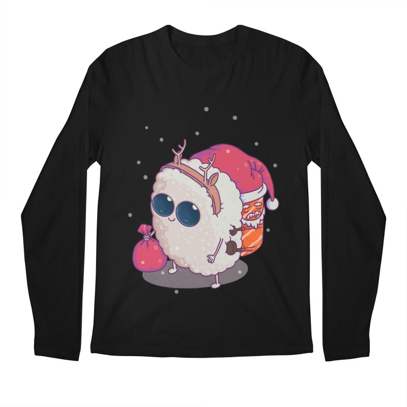 happy santa sushi Men's Longsleeve T-Shirt by makapa's Artist Shop