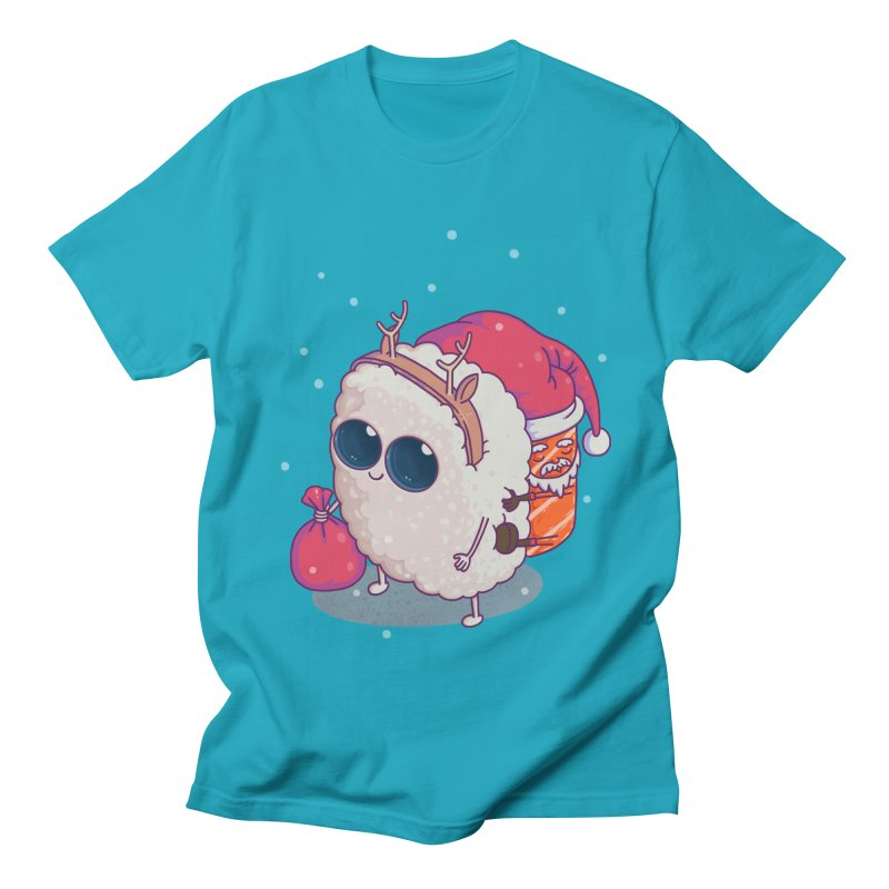 happy santa sushi Women's Unisex T-Shirt by makapa's Artist Shop