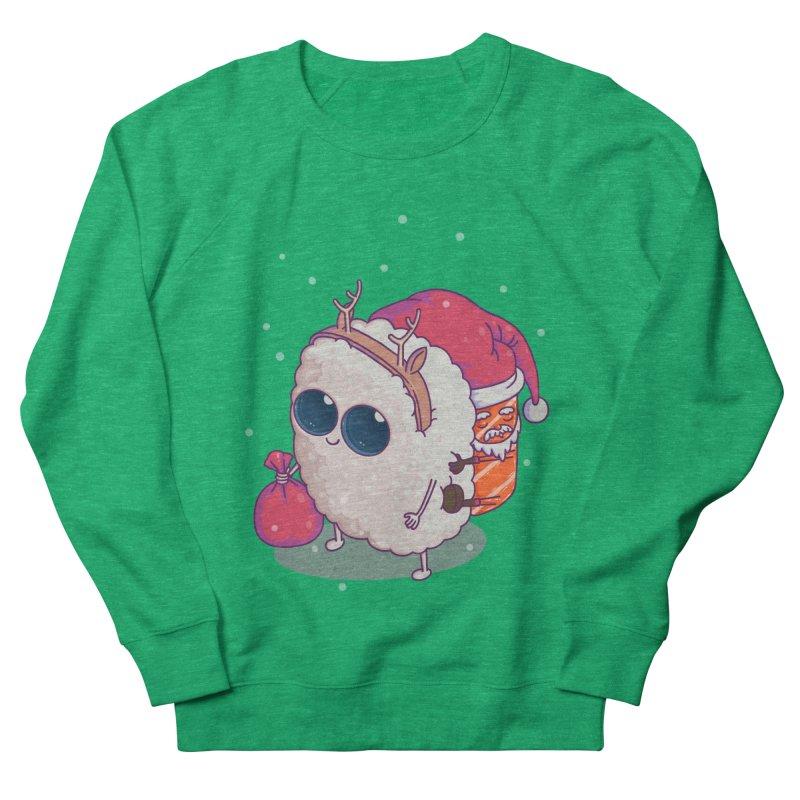 happy santa sushi Men's Sweatshirt by makapa's Artist Shop