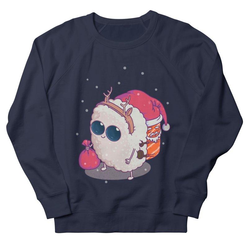 happy santa sushi Men's French Terry Sweatshirt by makapa's Artist Shop