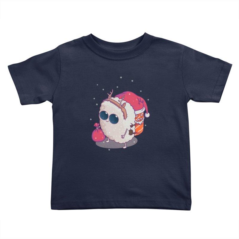 happy santa sushi Kids Toddler T-Shirt by makapa's Artist Shop