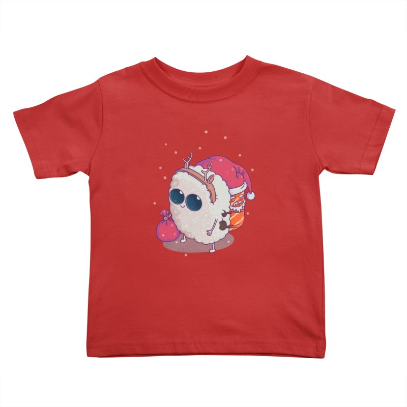 happy santa sushi Kids Toddler T-Shirt by makapa's Artist Shop
