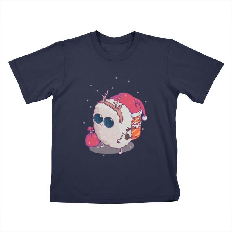 happy santa sushi Kids T-Shirt by makapa's Artist Shop