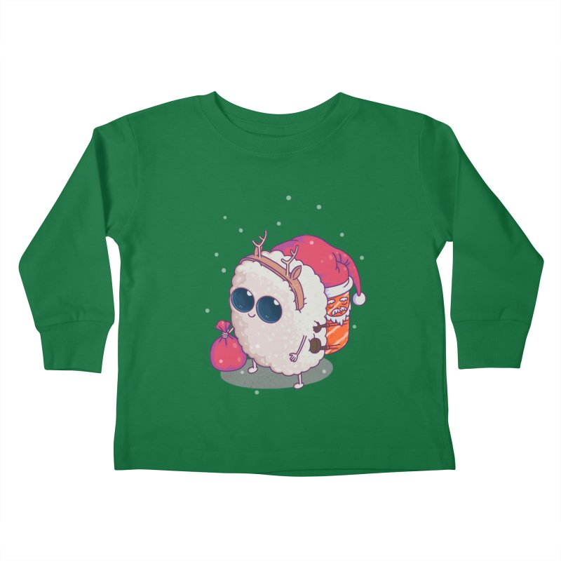 happy santa sushi Kids Toddler Longsleeve T-Shirt by makapa's Artist Shop