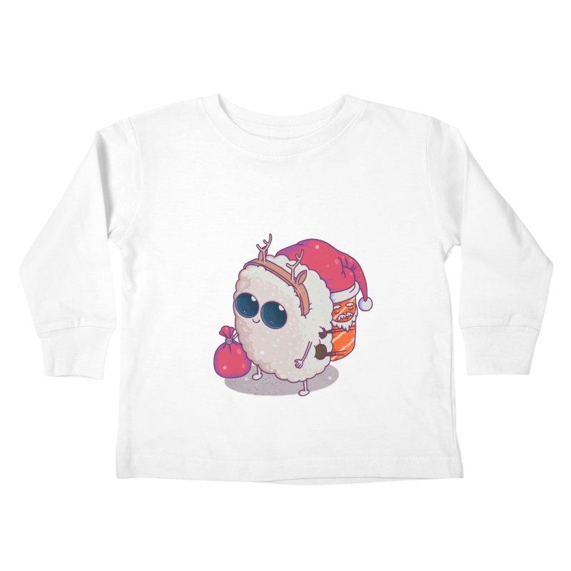 happy santa sushi Kids Toddler Longsleeve T-Shirt by makapa's Artist Shop