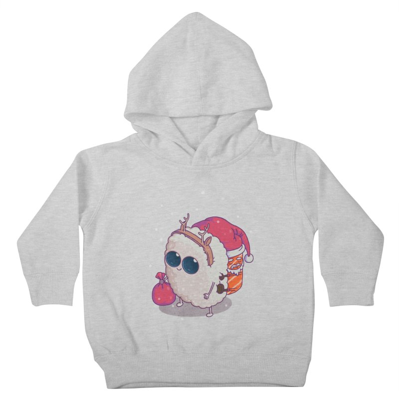 happy santa sushi Kids Toddler Pullover Hoody by makapa's Artist Shop