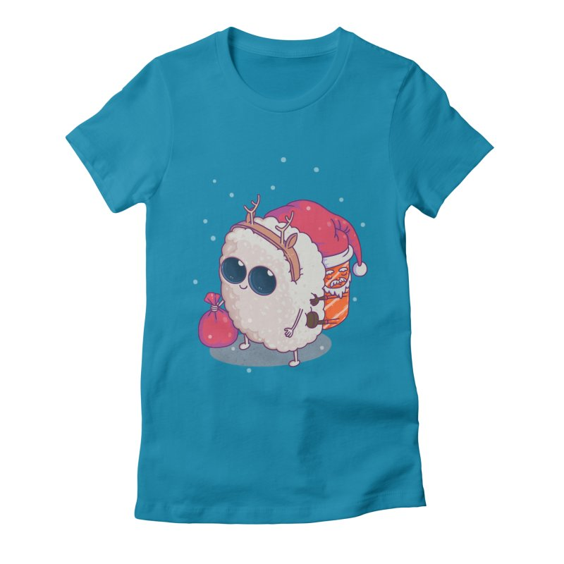 happy santa sushi Women's T-Shirt by makapa's Artist Shop