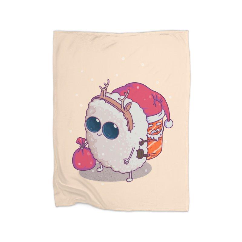 happy santa sushi Home Blanket by makapa's Artist Shop