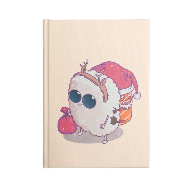 happy santa sushi Accessories Notebook by makapa's Artist Shop