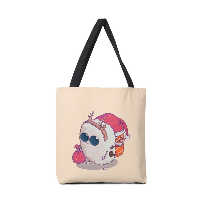 happy santa sushi Accessories Bag by makapa's Artist Shop