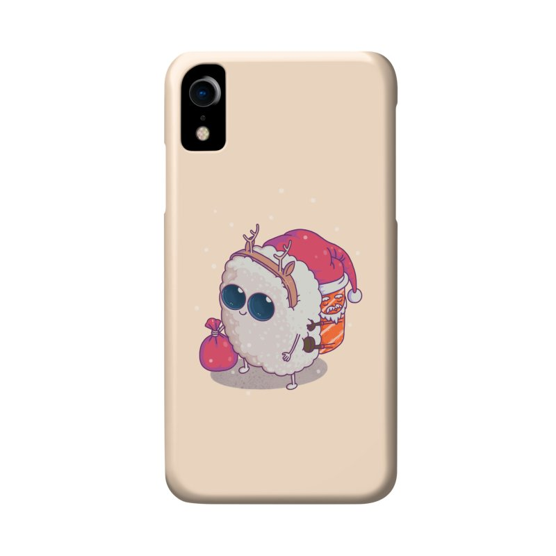 happy santa sushi Accessories Phone Case by makapa's Artist Shop