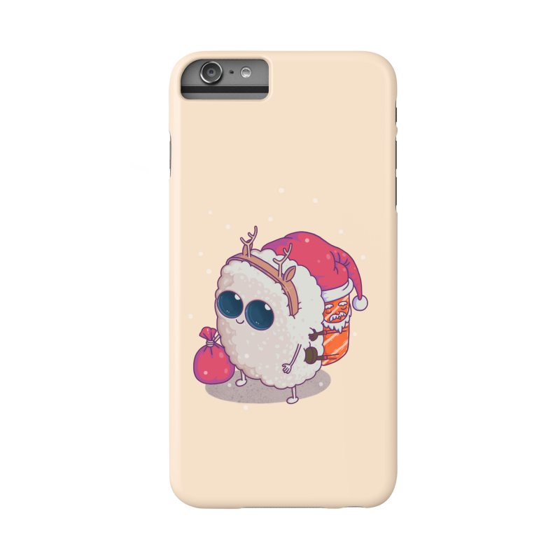 happy santa sushi Accessories Phone Case by makapa's Artist Shop