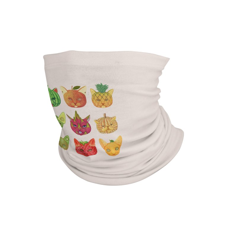 cat or fruit Accessories Neck Gaiter by makapa's Artist Shop