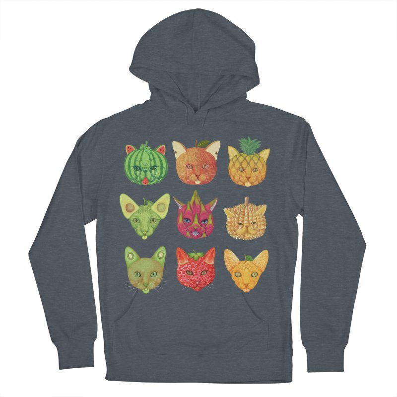 cat or fruit Women's French Terry Pullover Hoody by makapa's Artist Shop