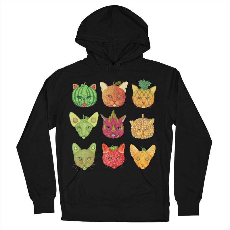 cat or fruit Women's Pullover Hoody by makapa's Artist Shop