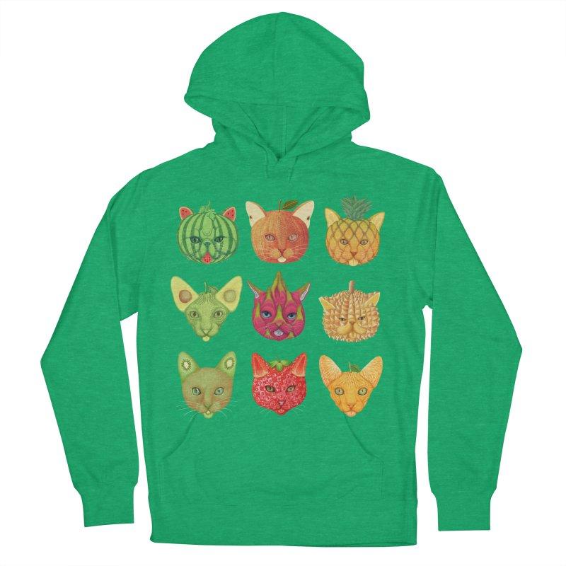 cat or fruit Men's Pullover Hoody by makapa's Artist Shop