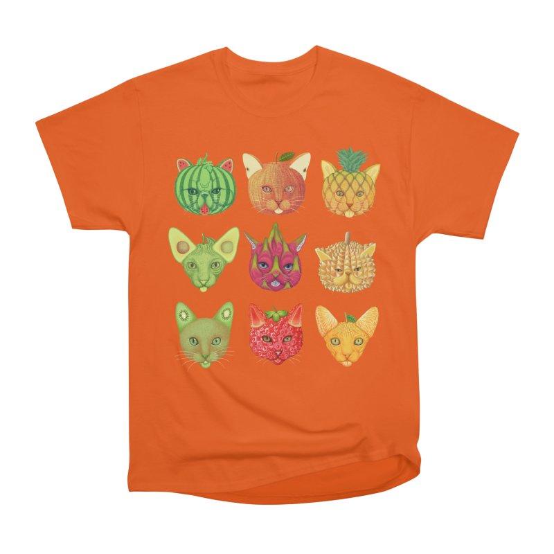 cat or fruit Men's Heavyweight T-Shirt by makapa's Artist Shop