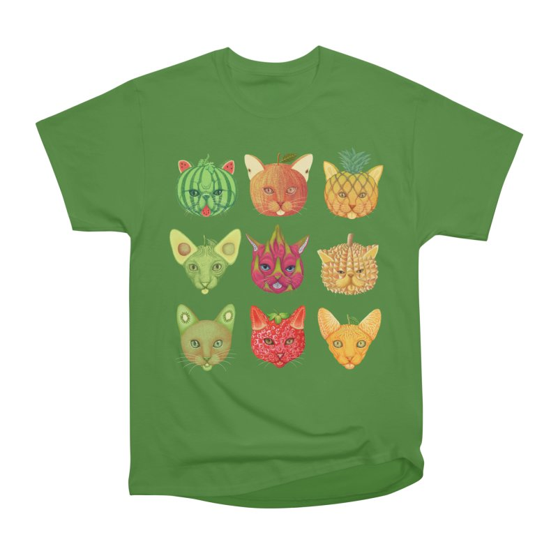 cat or fruit Men's Classic T-Shirt by makapa's Artist Shop