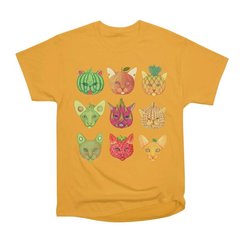 cat or fruit Women's Classic Unisex T-Shirt by makapa's Artist Shop