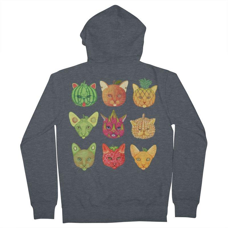 cat or fruit Women's Zip-Up Hoody by makapa's Artist Shop