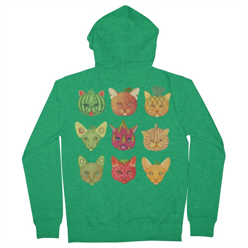 cat or fruit Men's Zip-Up Hoody by makapa's Artist Shop