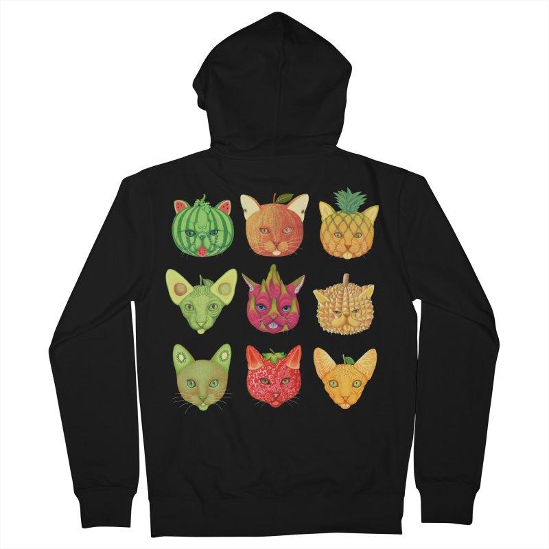 cat or fruit Men's Zip-Up Hoody by makapa's Artist Shop