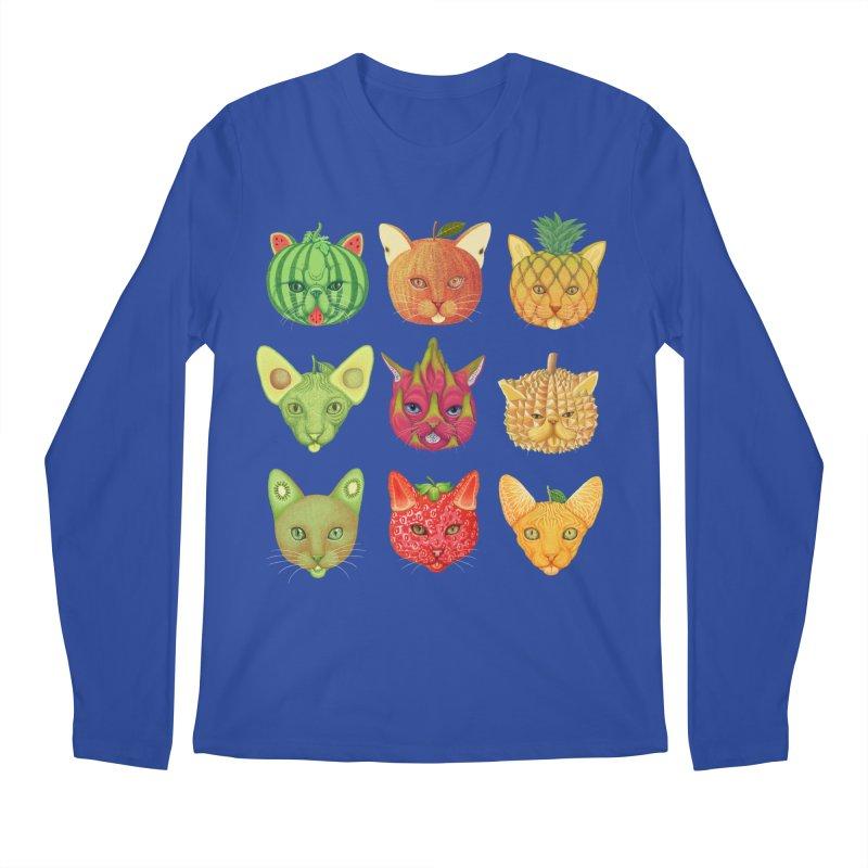 cat or fruit Men's Longsleeve T-Shirt by makapa's Artist Shop