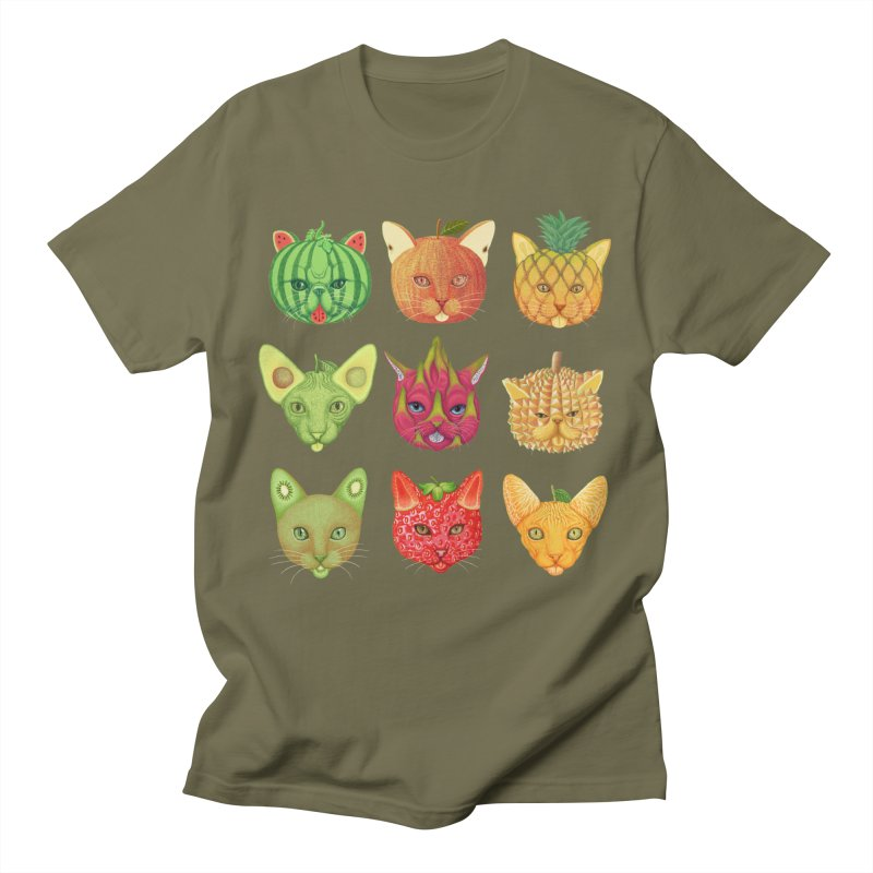 cat or fruit Men's T-Shirt by makapa's Artist Shop