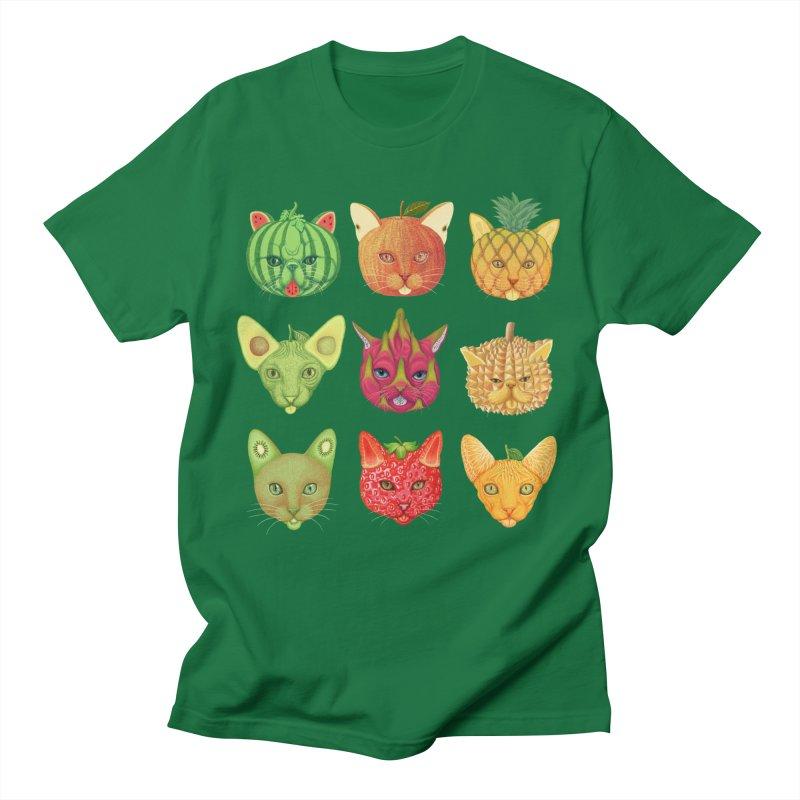 cat or fruit Men's T-Shirt by makapa's Artist Shop
