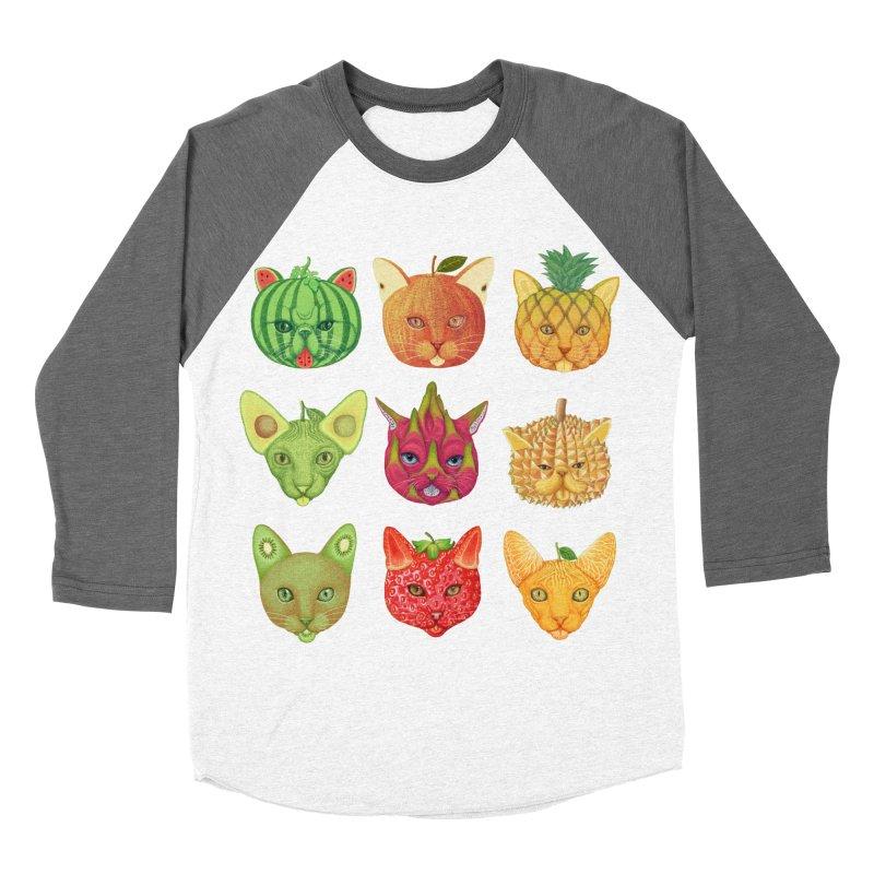 cat or fruit Women's Baseball Triblend T-Shirt by makapa's Artist Shop