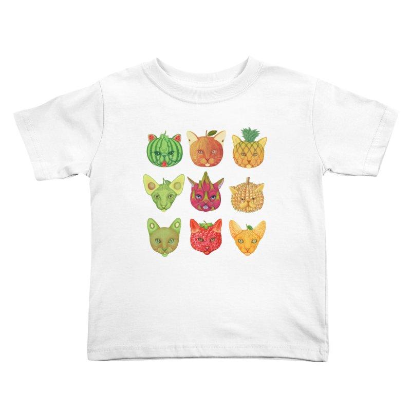 cat or fruit Kids Toddler T-Shirt by makapa's Artist Shop