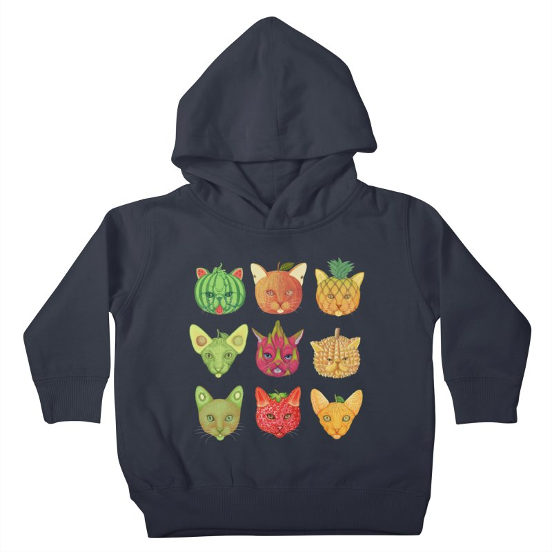 cat or fruit Kids Toddler Pullover Hoody by makapa's Artist Shop