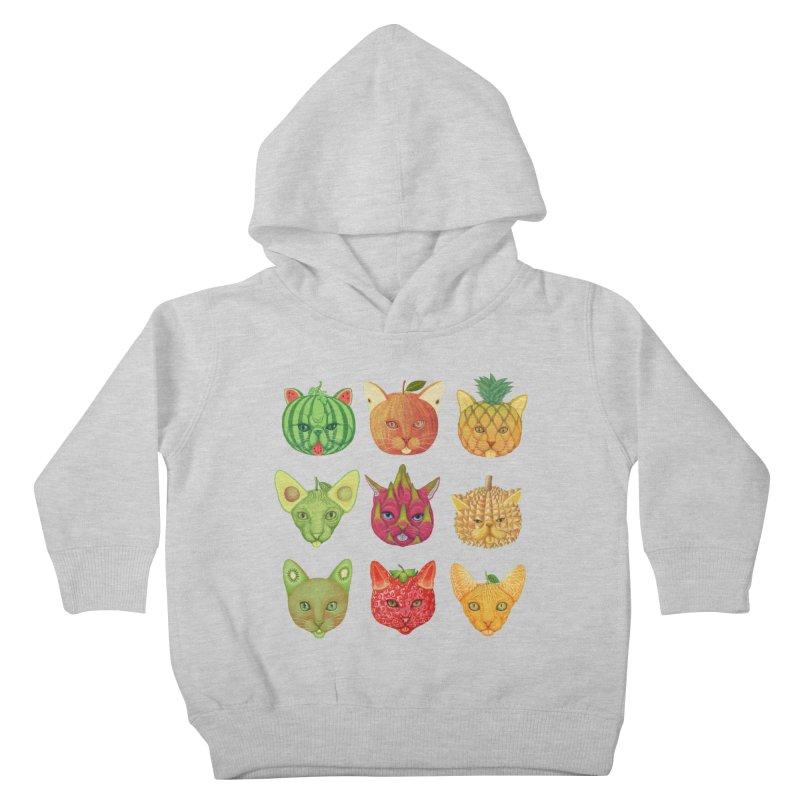 cat or fruit Kids Toddler Pullover Hoody by makapa's Artist Shop