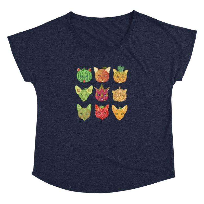 cat or fruit Women's Dolman by makapa's Artist Shop