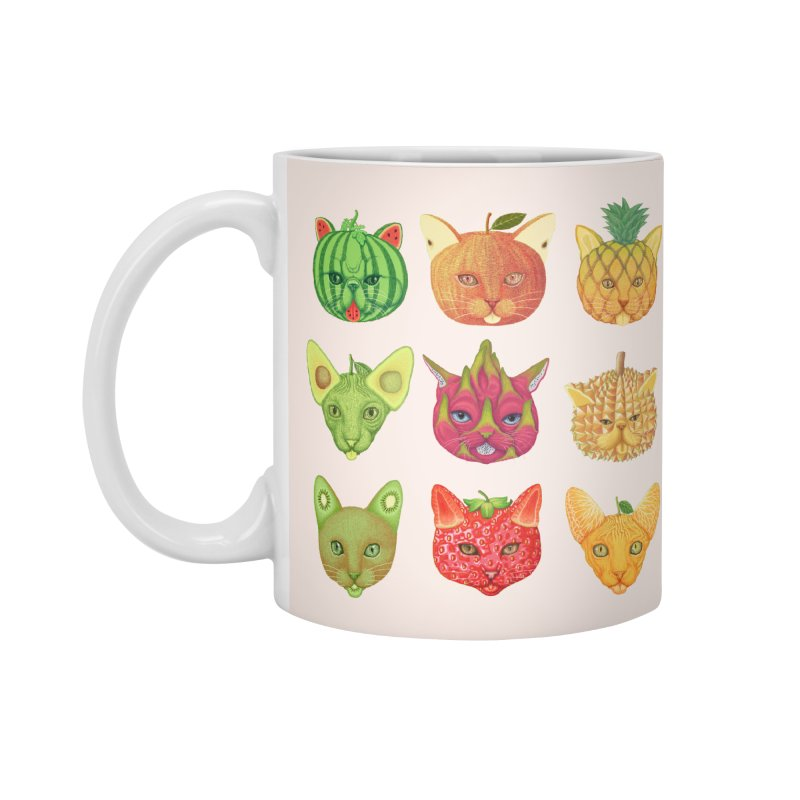 cat or fruit Accessories Mug by makapa's Artist Shop