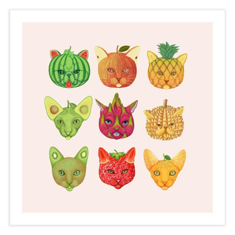 cat or fruit Home Fine Art Print by makapa's Artist Shop