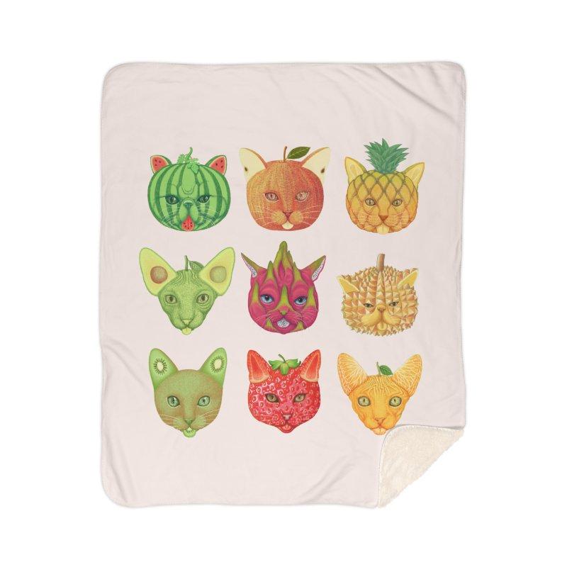 cat or fruit Home Blanket by makapa's Artist Shop