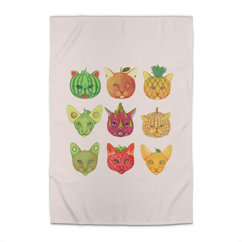 cat or fruit Home Rug by makapa's Artist Shop