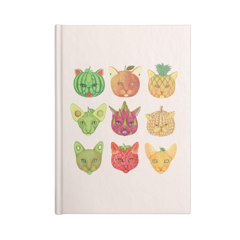 cat or fruit Accessories Notebook by makapa's Artist Shop