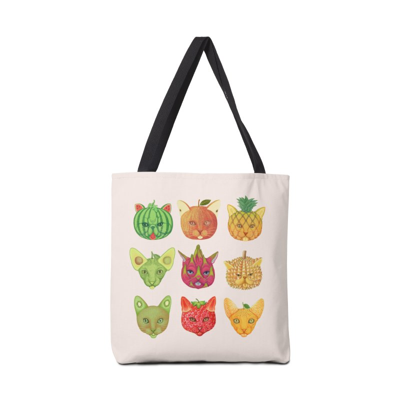 cat or fruit Accessories Bag by makapa's Artist Shop
