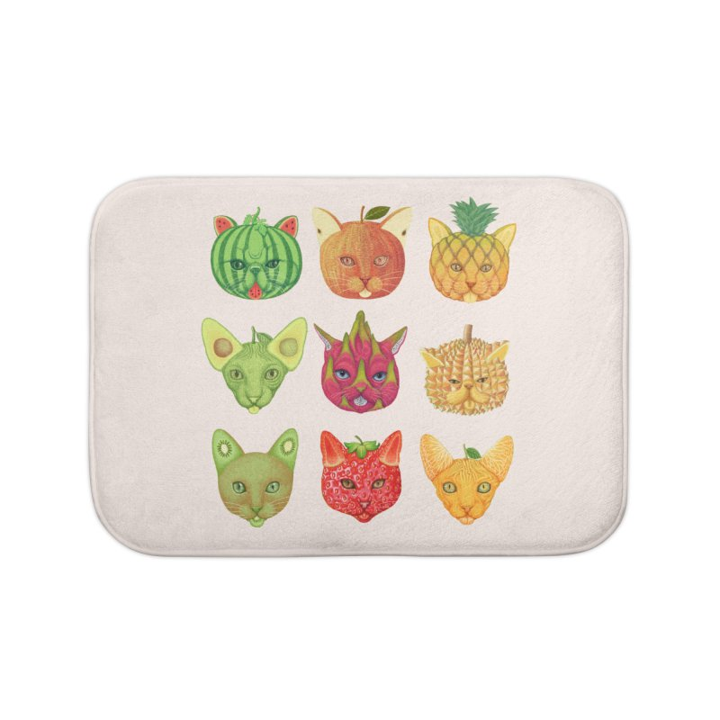 cat or fruit Home Bath Mat by makapa's Artist Shop