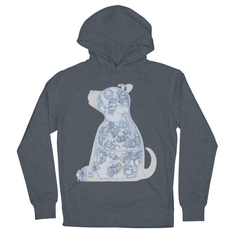 my dog and friends Women's French Terry Pullover Hoody by makapa's Artist Shop