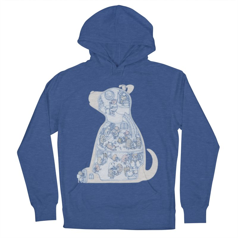 my dog and friends Men's French Terry Pullover Hoody by makapa's Artist Shop
