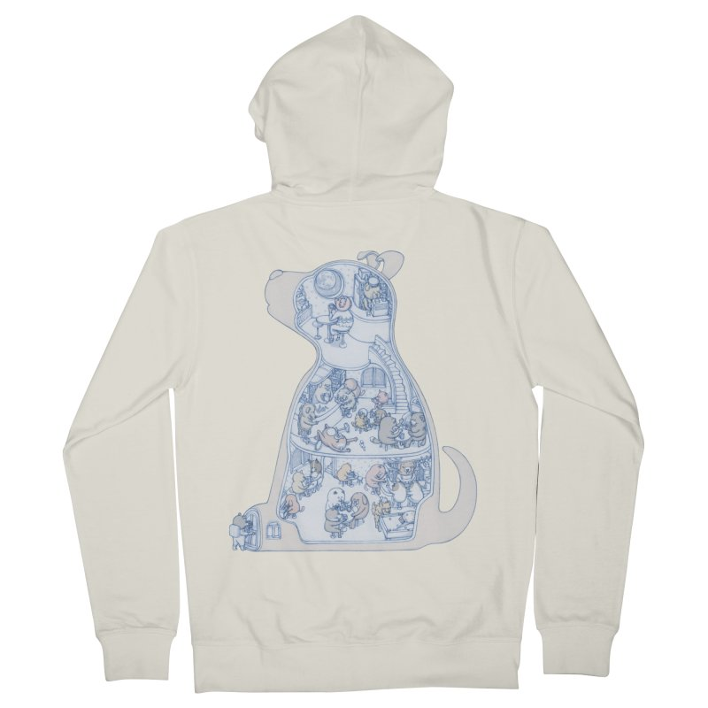 my dog and friends Women's French Terry Zip-Up Hoody by makapa's Artist Shop